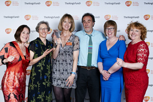 Amaze team celebrates winning their GSK Impact Award at London Science Museum ceremony.
