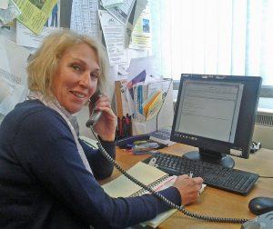 SENDIASS helpline adviser at work