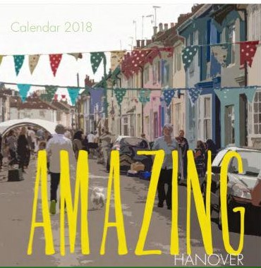 image of street with bunting with text AMAZING