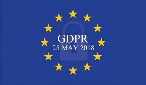 GDPR inside European flag stars