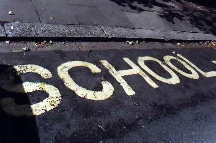 school road markings
