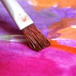 brush painting bright colours