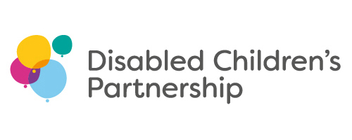 Disabled Children's Partnership logo with brightly coloured balloons