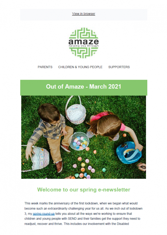 front cover, showing children collecting small Easter eggs